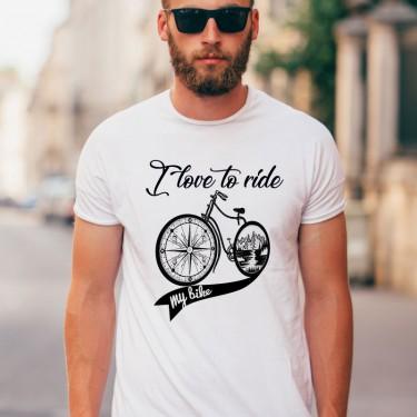 Tricou - I love to ride my bike