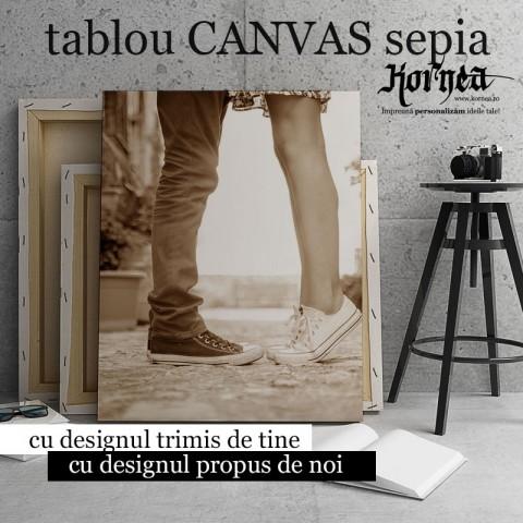 Tablou - Canvas sepia - printat pe panza