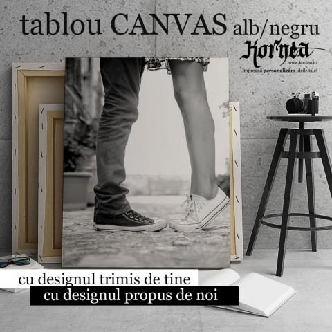 Tablou - Canvas alb negru - printat pe panza
