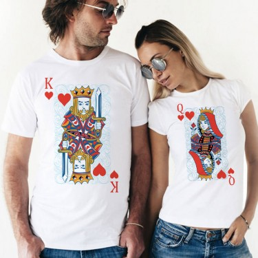 Set Tricouri - Queen and King cards
