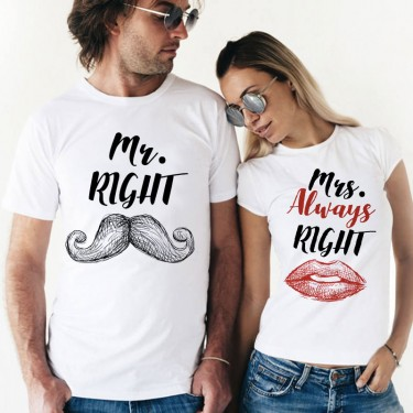 Set Tricouri - mr. right and mrs. always right