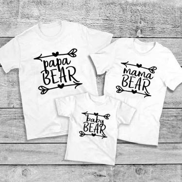 Set Tricouri familie - Tata, Mama, Baby BEAR