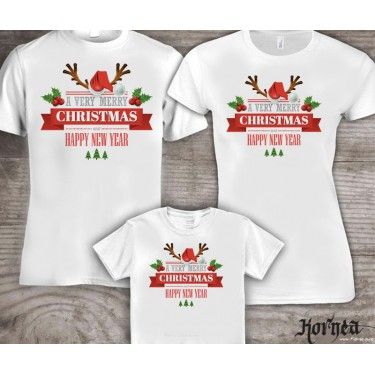 Set Tricouri familie - Merry Christmas