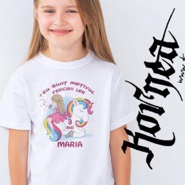 Tricou - Fetita Unicorn