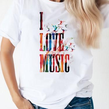 Tricou - I LOVE MUSIC