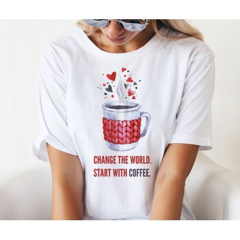 Tricou - O lume si o cafea