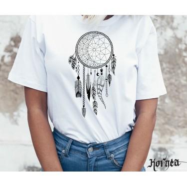 Tricou - Mandala alb negru