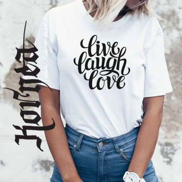Tricou - Live laught love