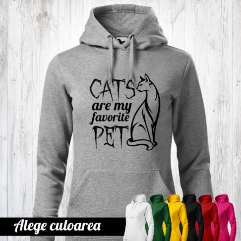 Hanorac - Iubitori pisici
