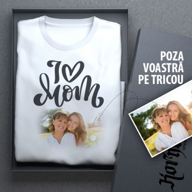 Tricou - I love mama + poza