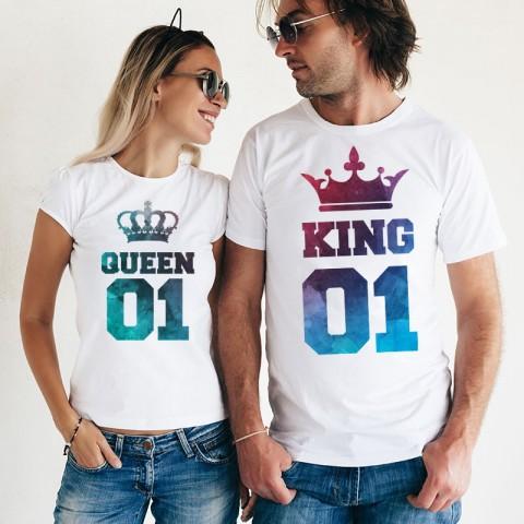 Set Tricouri - King & Queen cu textura