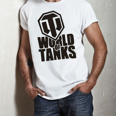 Tricou - World of tanks logo negru