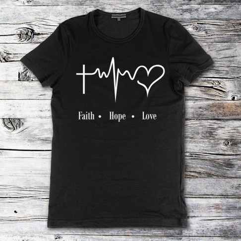 Tricou - Faith Hope Love