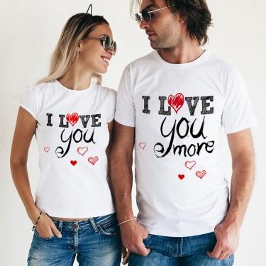 Set Tricouri - te iubesc mai mult!
